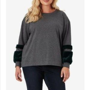 Jessica Simpson 2X Gray Sweatshirt 6AP30